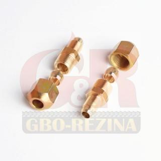 Переходной фитинг D8/D6 М10х1/G1x4 (GZ-00-14A) - Соединители для медной магистрали