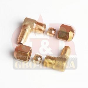 Переходной фитинг (угловой) D8/D6 М10х1/G1x4 (GZ-10-24A)