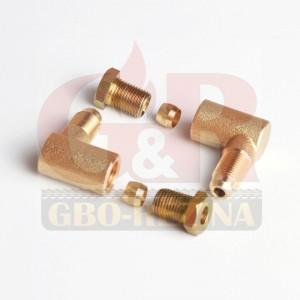 Угольник для мультиклапана (комплект) D6 М10/М10 (GZ-262A)